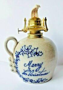 Vintage-Salmon-Falls-Stoneware-Pottery-1995-Merry-Christmas-Pottery-Art-Lantern
