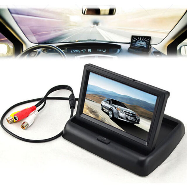"4.3"" TFT LCD Foldable Monitor For Car Reverse Rear View Camera GPS DVD S6DS"