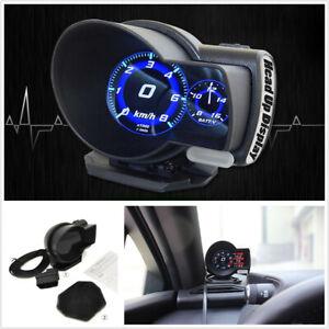 Car LCD Digital Multi Gauge Display OBD2 HUD Speedometer Gauge Boost Scan Tool