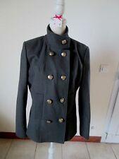 Manteau caban très tendance  LAINE MAJORITAIRE AUTRE TON comme neuf  T 44