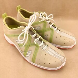 Cole Haan D16126 Women's Suede Air Tan/White/Green Sneaker US Size 8B