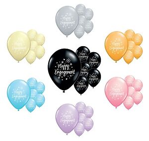 """PA 40 x HAPPY ENGAGEMENT  LIGHT PINK 12/"""" HELIUM QUALITY PEARLISED BALLOONS"""