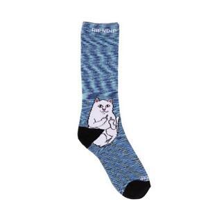 Genuine Rip N Dip Lord Nermal Socks - Navy Speckle (One Size)