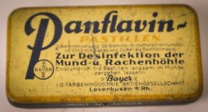 Tin Can Panflavin Pastilles Bayer Leverkusen Advertisement Advertising Antique