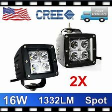 2X 16W LED Spot Lights CREE Fog Off Road Dually Truck Motorcycle 4x4 ATV Driving