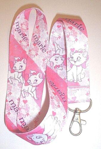 MARIE ARISTOCATS LANYARD NECK STRAP ID TAG PIN HOLDER CUTE KITTEN CAT