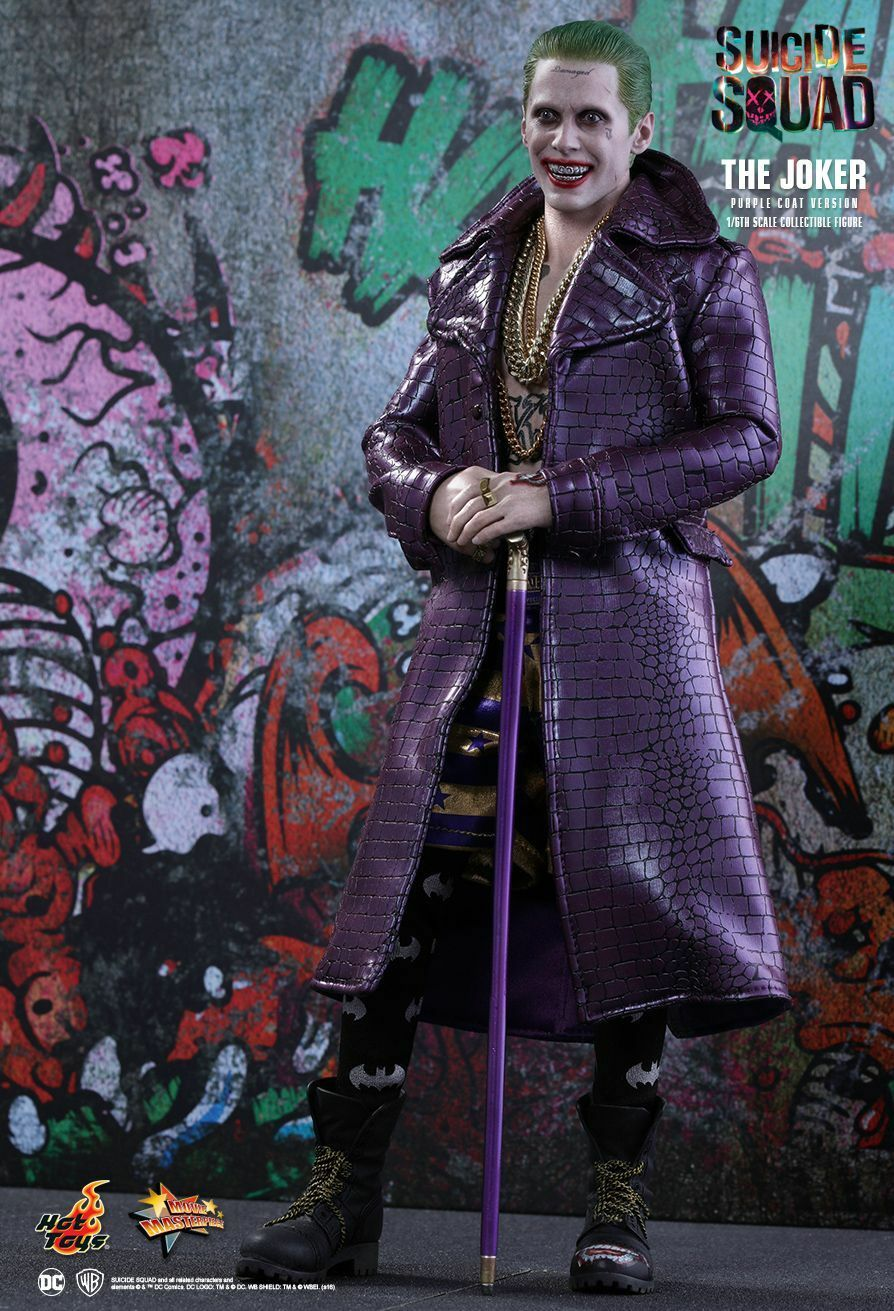 SUICIDE SQUAD  The Joker Purple Coat 1 6th Scale Action Figure MMS382 (Hot Toys)