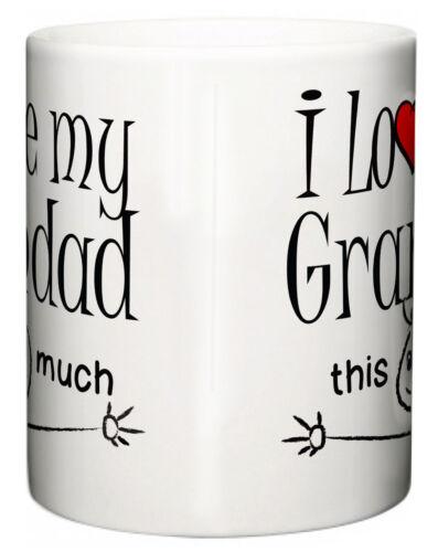 """Großvater Becher /"""" I Love Mein Opa Das Viel /"""" Tee Kaffeetasse Grand Vater"""