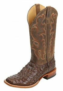 b76d492305a Details about Horse Power Men's Nile Croc Print Western Boot - Square Toe -  HP1070 MOVE