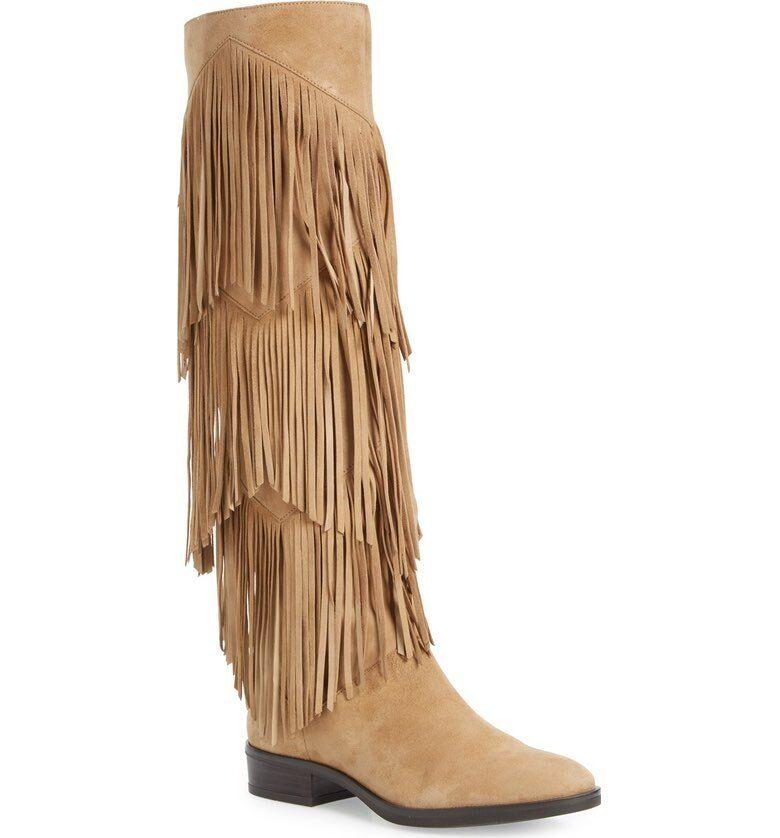 Sam Edelman Women's Pendra Fringe Western Boot 7813 Size 6.5 M