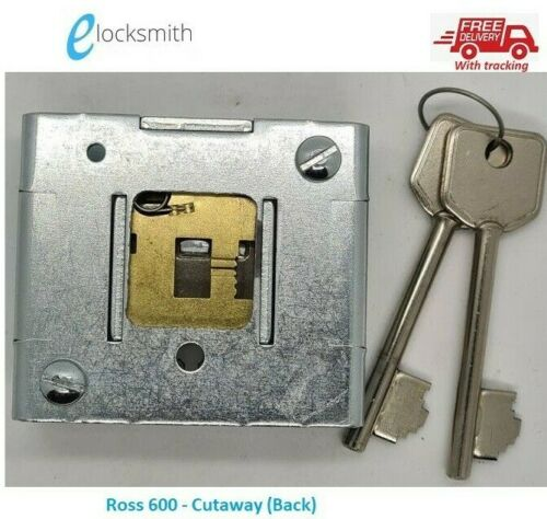 Locksport Locksmith Ross 600 Six Lever Safe Lock 2 keys Cutaway