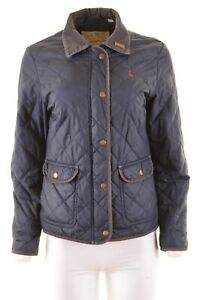 JACK-WILLS-Womens-Quilted-Jacket-UK-12-Medium-Blue-Polyester-V002