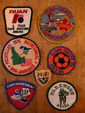 LOT OF 7 OLD PATCH PATCHES JAMBOREE SOCCER RUAN HIGH SCHOOL BAND TRUCK DRIVING