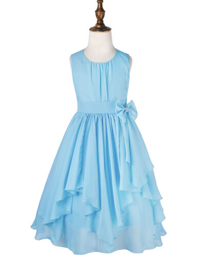 Flower Girl Dress Party Wedding Bridesmaid Princess Pleated Skirt Formal Dresses