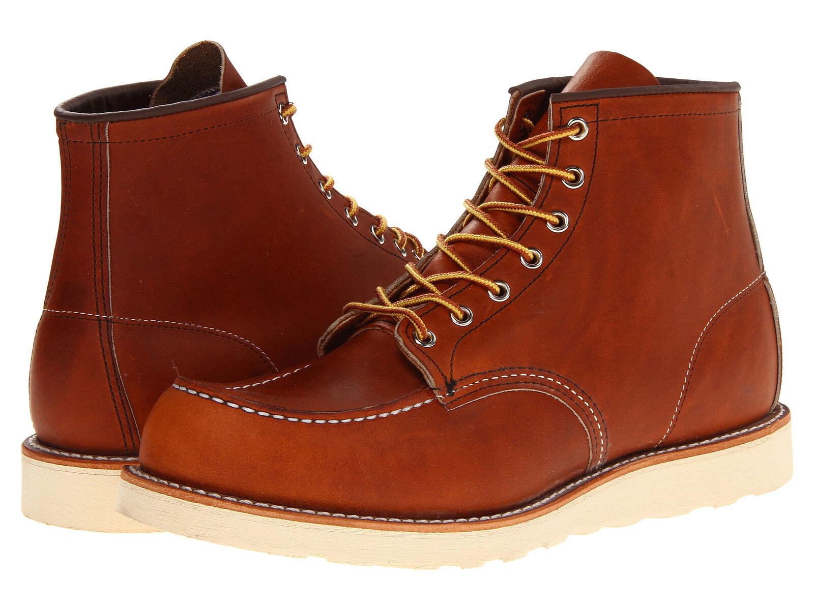 rosso WING oro LEGACY LEATHER CLASSIC MOC LACE UP uomo stivali 875 Marronee