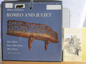 SHAKESPEARE-RECORDING-SOCIETY-3-LPs-amp-book-ROMEO-amp-JULIET-Claire-Bloom-A-Finney