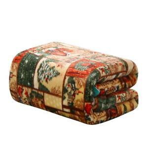Ultra-Plush-Merry-Christmas-Country-Winter-Barn-Fleece-Throw-Blanket-Cover