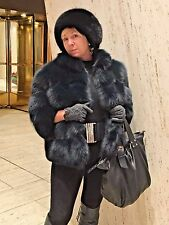 Saga Fox Fur Jacket Coat Italy Size Medium