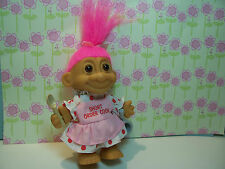 "SHORT ORDER COOK - 5"" Russ Troll Doll - NEW IN BAG - Pink Hair"