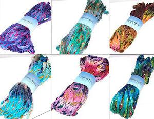 Plymouth-Ruffle-Lace-Unique-Cotton-Blend-Yarn-Passion-Nette-100g-Knit-Crochet-FS