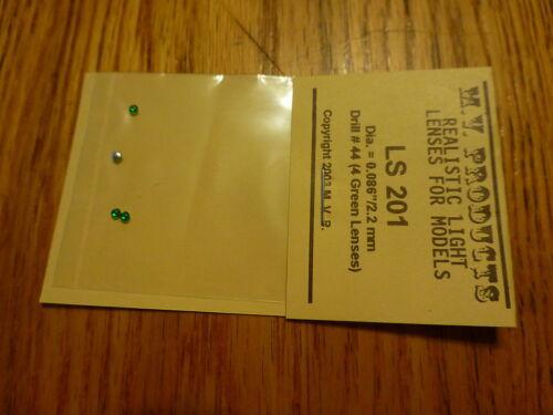 M.V. Products Lenses #201 Dia= .086 / 2.2mm (4 Green) Fits: See Description