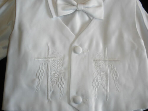 0-30M Baby Boy /& Toddler Christening Baptism Formal outfit gown Suit SMLXL