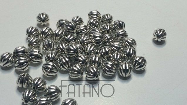 50 Stück  Kunststoff  Acryl Perlen silber 8 mm Schmuck Basteln  Deko H42