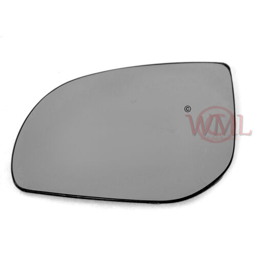HYUNDAI I20 2008-/>2013 DOOR//WING MIRROR GLASS SILVER,NON HEATED /& BASE,LEFT SIDE