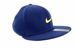 e55105c86879b NIKE TRUE Swoosh Flex Unisex Baseball Cap Casual Hat Blue- Gold ...