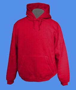 Hoody-Kapuzenpullover-B-amp-C-Rohware-unbedruckt-blanko-rot-XXS-L