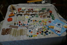 Huge lot of Vintage 1970s Playmobil Parts/Accessories/Horses/Hats/Animals/Cuffs+