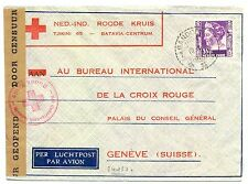 NED INDIE DUTCH INDIES 1940-12-7  RED CROSS-CENSOR  PM-BANDOENG- FROM=TJIMINDI=