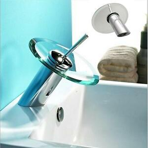 Mitigeur cascade verre lavabo bassin évier du robinet de mélangeur ...