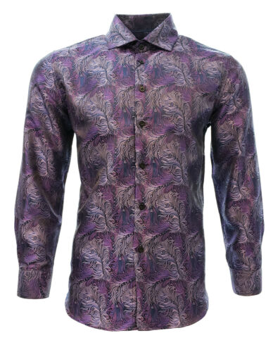 Men/'s Casual Shirt Long Sleeve Centenario Color Purple