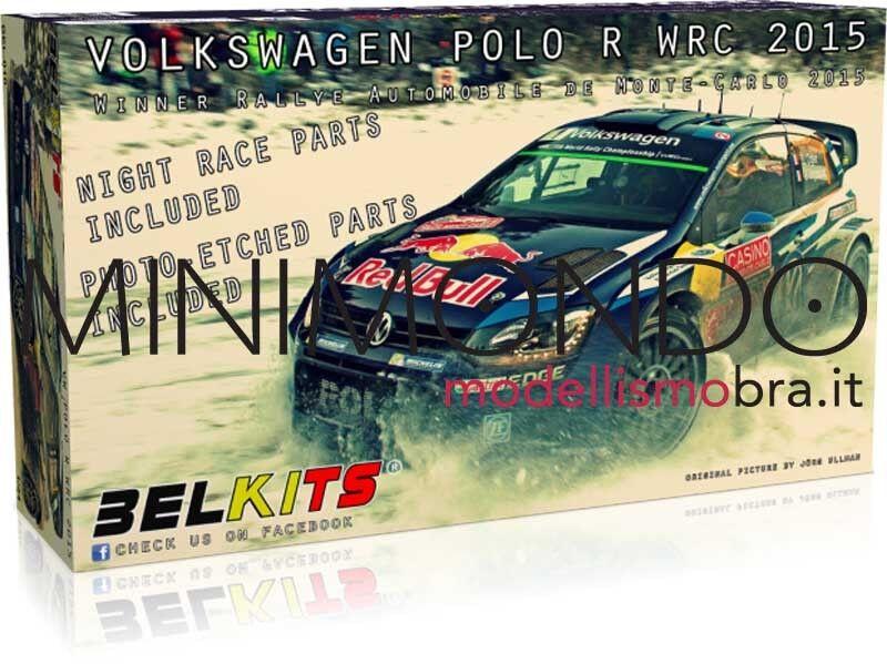 senza esitazione! acquista ora! KIT VOLKSWAGEN POLO WRC RtuttiY MONTEautoLO 2015 WINNER WINNER WINNER 1 24 BELKITS 010  Prezzo al piano