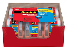 Scotch Heavy Duty Tape 3m 1.88 X 800 Inches 6 Rolls Dispenser