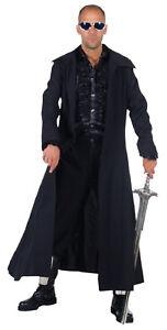 Details zu Matrix Neo Reloaded Blade Mantel Kostüm Dracula Vampir Herren Halloween Gothic