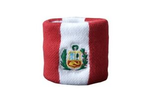 Schweisband-drapeau-drapeau-perou-2er-set-7x8cm-Bracelet-de-sport