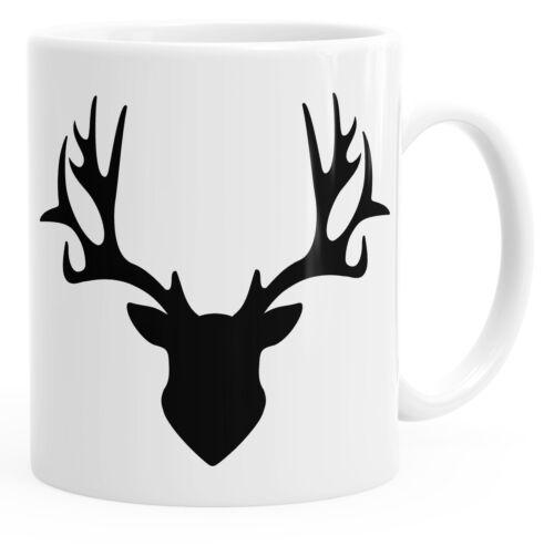 Taza Hirsch cuerna taza de café Taza de té cerámica taza monocromática autiga ®