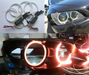 4x-Excellent-red-CCFL-Angel-Eyes-kit-Halo-Rings-For-Lexus-IS200-IS300-1998-2005