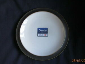 DENBY-JET-BLACK-TEA-OR-SIDE-PLATE-BRAND-NEW-WITH-LABELS-18-cm-FIRST-QUALITY