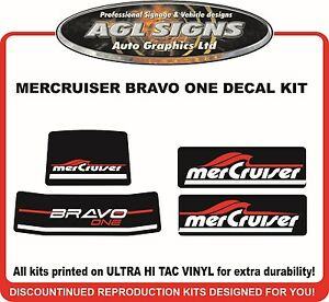 Mercury Bravo One XR New Gen Outdrive Reproduction Decal Kit   Mercruiser