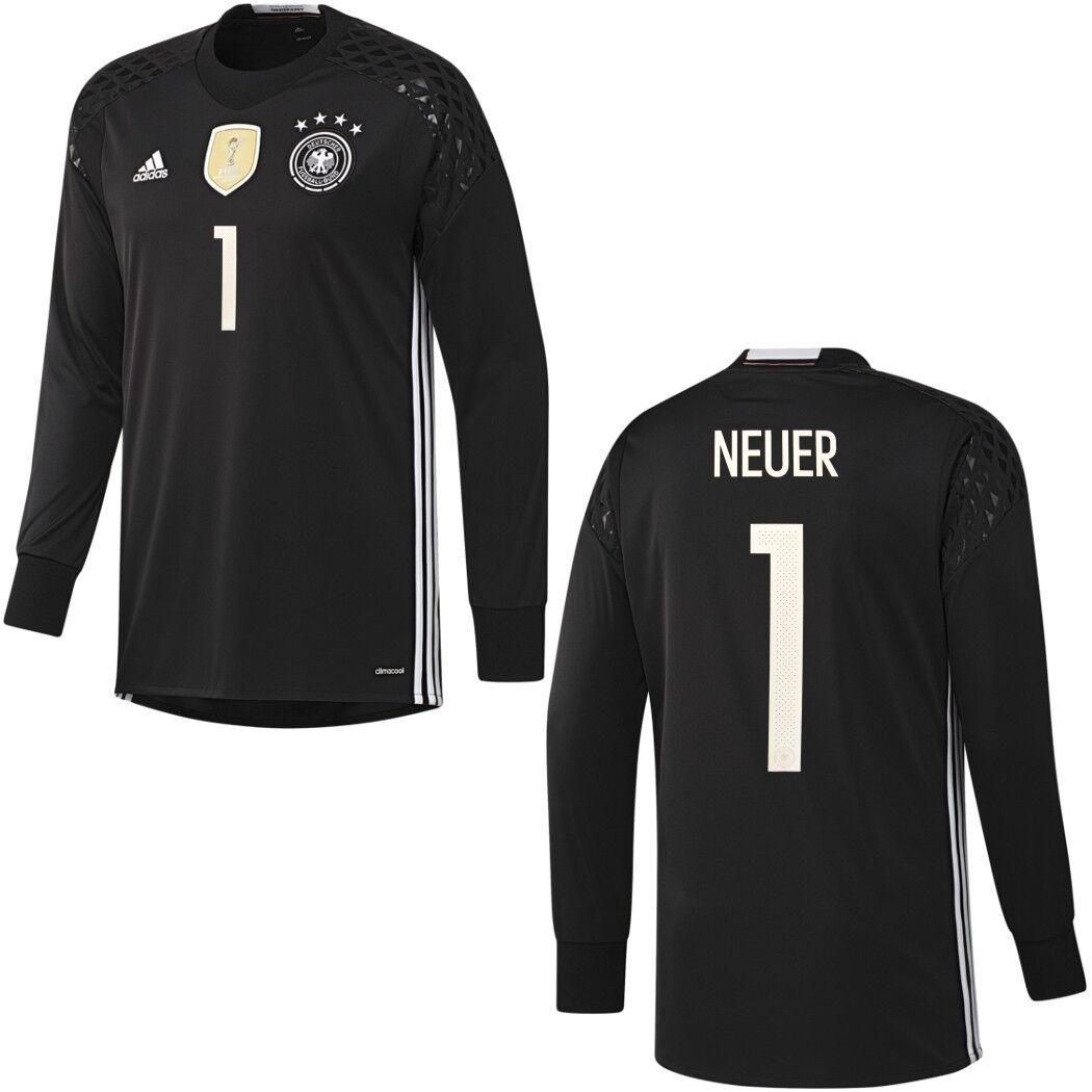 Adidas DFB Goalkeeper Jersey Torwarttrikot NEUER EM 2016 schwarz