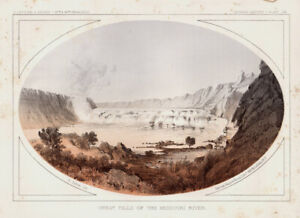 "1860 USPRR ""Great Falls of the Missouri River""---Montana"