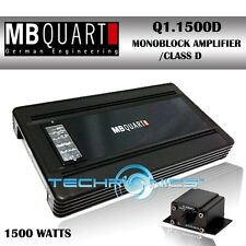 MB QUART Q1.1500D 1500W RMS, Q-SERIES MONOBLOCK 1 CHANNEL CR AUDIO AMPLIFIER