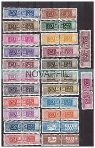 PACCHI-POSTALI-STELLE-1955-1973-SERIE-COMPLETA-24-VALORI