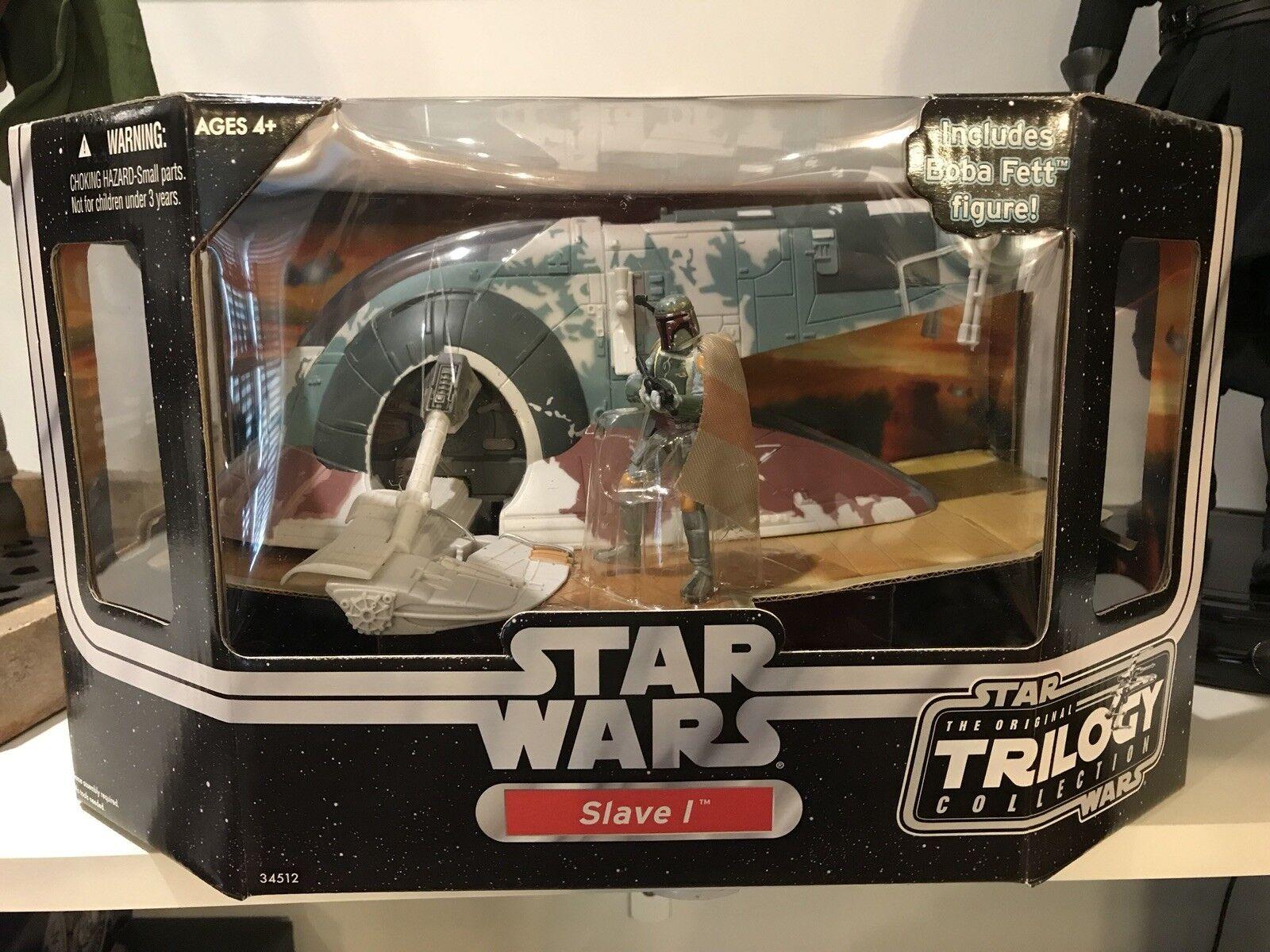 Star Wars Original Trilogy Collection Slave 1 OTC with Boba Fett MISB Rare MIP
