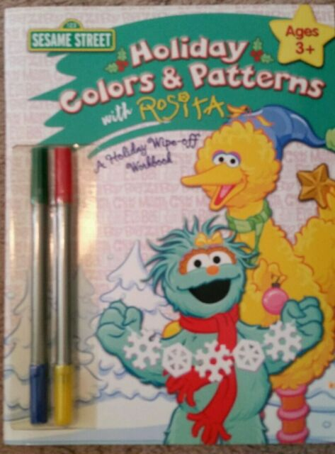 Sesame Street Colors Write And Wipe Workbook For Sale Online EBay