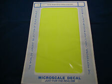 MICROSCALE DECAL TRIM FILM TF-33 BRIGHT GLOW YELLOW NEW