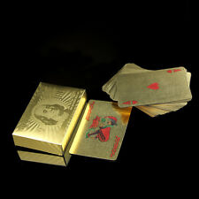 High Grade 24k Gold Foil Plated Waterproof Game Poker US Dollors Playing Cards